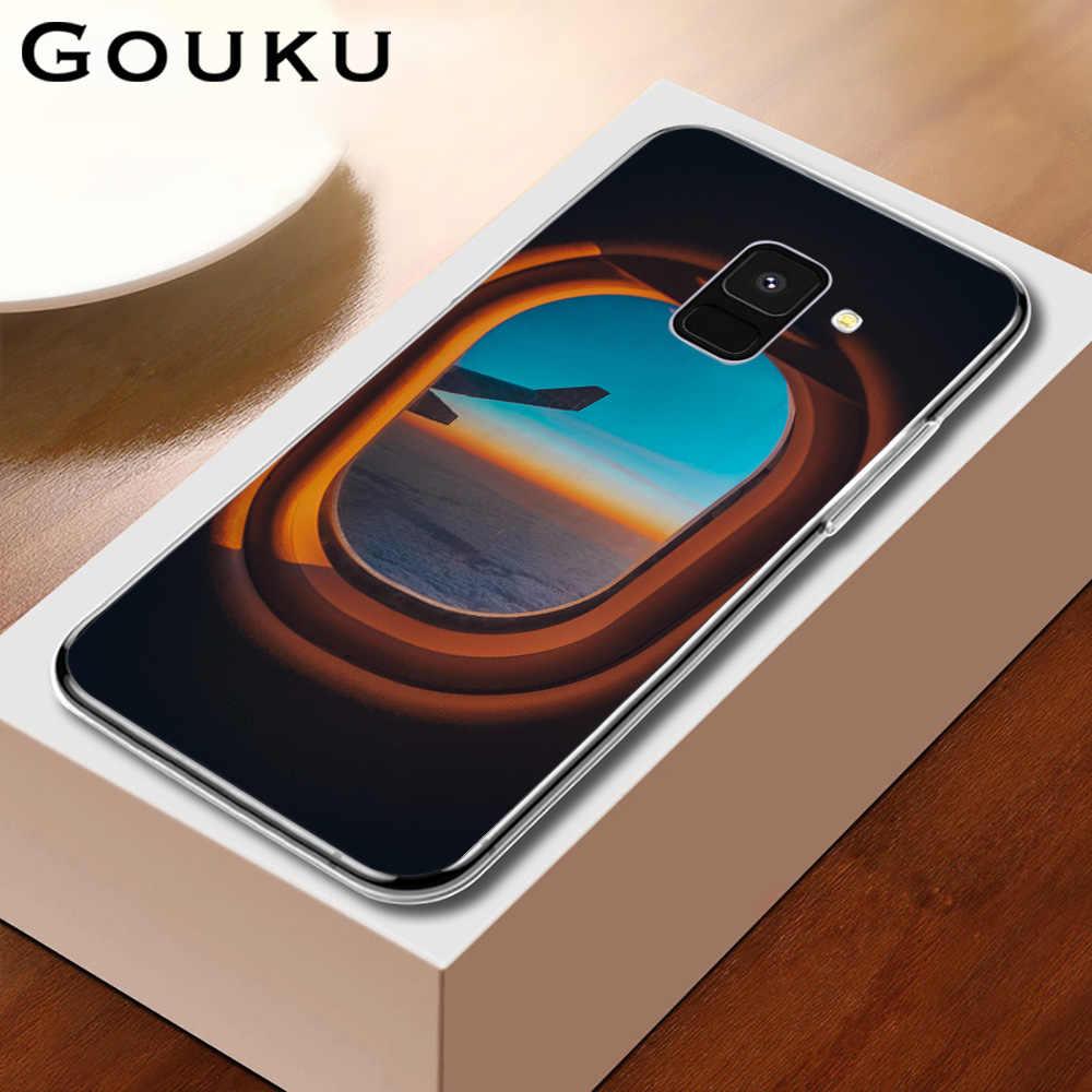 GOUKU طائرة جراب هاتف للصدمات سيليكون لسامسونج غالاكسي A9 8 7 6 A530 2017 2018 زائد A70 A60 A50 A40 A30 A20 A10 J6 J4