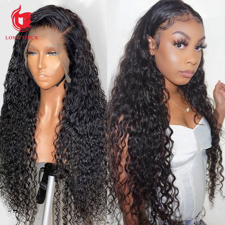 360 Lace Frontal Wig Full Lace  Wigs    Loose Deep Wave Frontal Wig Curly  Wig 1
