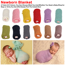 40*150cm Baby Receiving Blankets Newborn Photography Props Stretch Knit Wrap Hollow Wraps Hammock Photo Swaddle Blankets