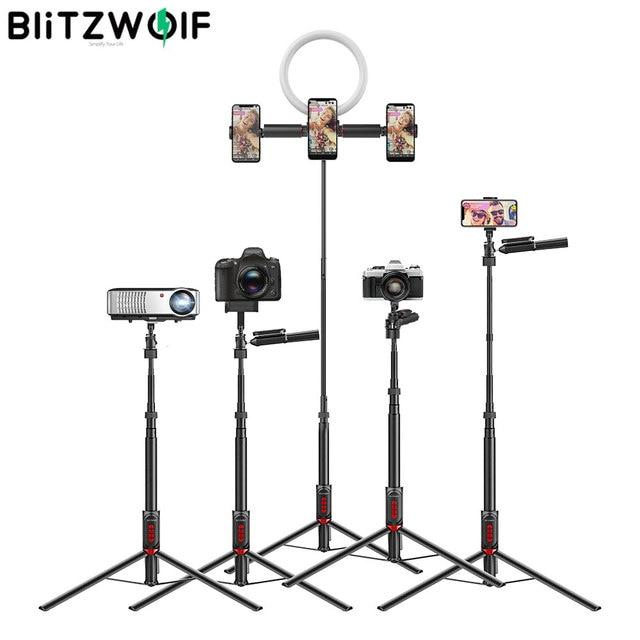 BlitzWolf bluetooth Selfie Stick Photography Lighting LED Ring Light Lamp Stand for DSLR Camera Photography Ring Light projector