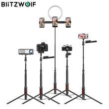 BlitzWolf bluetooth Selfie bâton photographie éclairage LED anneau lumière support de lampe pour DSLR appareil photo photographie anneau lumière projecteur