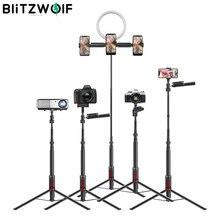BlitzWolf bluetooth Selfie sopa fotoğraf aydınlatma LED halka ışık lamba standı DSLR kamera fotoğrafçılığı için halka ışık ışık projektör