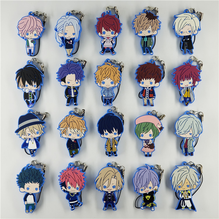 A3 ACT ADDICT ACTORS Game Rubber Strap SPRING Summer AUTUMN Winter Rubber Keychain