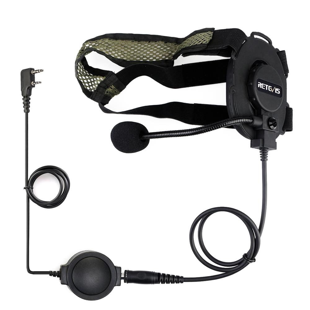 2-3 Retevis EH060K High Quality Tactical Headset Military Headset With PTT Headphone For Walkie Talkie Airsofe Game Earphone