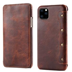 Image 1 - 새로운 아이폰 12 프로 맥스 2020 에 대한 진짜 가죽 지갑 아이폰 11 케이스에 대한 Coque 아이폰 11Pro 케이스 플립 커버 iPhone12 미니 XS Funda