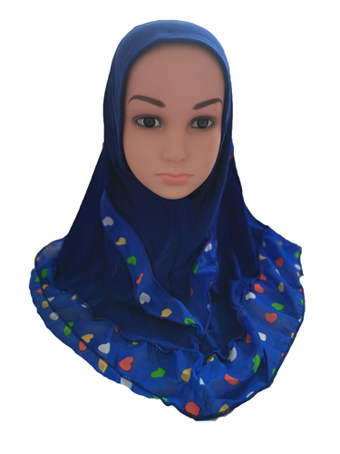 Image 3 - Fashion Kids Children Girls Muslim Flower Islamic Scarf Arabic  Shawls Hats Arab Headscarf Head Cover Headwrap Caps Patchwork NewHats