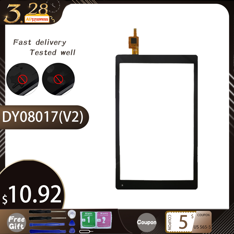 8'' Inch Black 100% New For Voyo WinPad A1 Mini Iwork8 U80gt DY08017(V2) Touch Screen Handwriting Screen Free Shipping