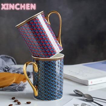 Koninklijke Stijl Europese Bone China Koffie Mok High Grade Bone China Afternoon Thee Kopjes Keramische Mok 350 Ml Voor Koffie