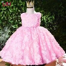 Children Baby Girls Petals Princess Dresses Flower Girls Wedding Dress
