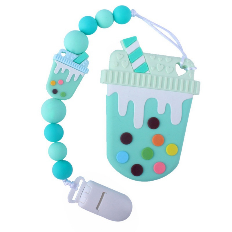 Pacifier Personalize Silicone Beads Binky Clip Pacifier Chain Chew Baby Teether Toys Dummy Clip Nipple Holder