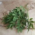 Искусственные белые цветы, свадебный букет, шелковые цветы, ваза для дома, Декор, листья ивы, зеленая трава, искусственные цветы