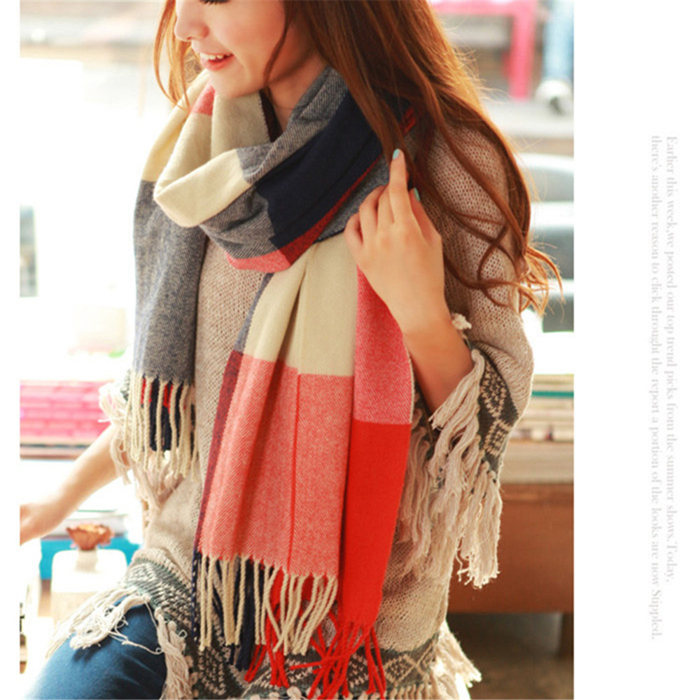 2019 Winter Women Cashmere Plaid Scarf  Female Warm Big Scarves Shawls & Wraps Bufandas Invierno Mujer Foulard Femme Pashmina