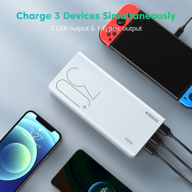 ROMOSS Sense 8 + внешний аккумулятор30000 мАч 4