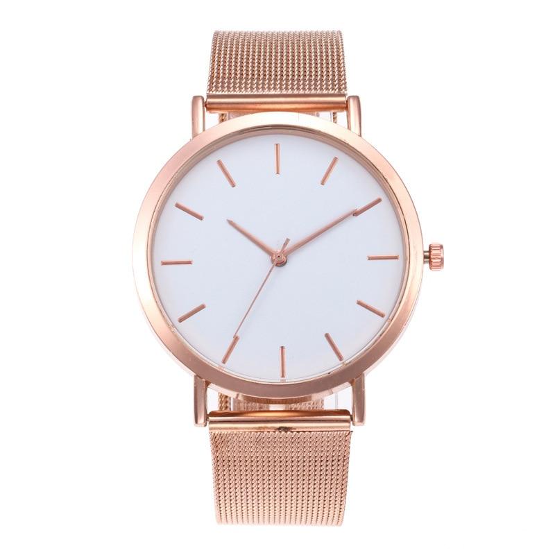 Relogio Feminino Fashion Quartz Watch Men Women Watches Mesh Steel Watchband Casual Wristwatch Gift For Female Zegarek Damski