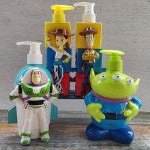Bouteille de shampoing Spiderman de 320ml, Toy Story Disney, bouteille de savon pour les mains, Woody Buzz l'éclair, modèle Alien