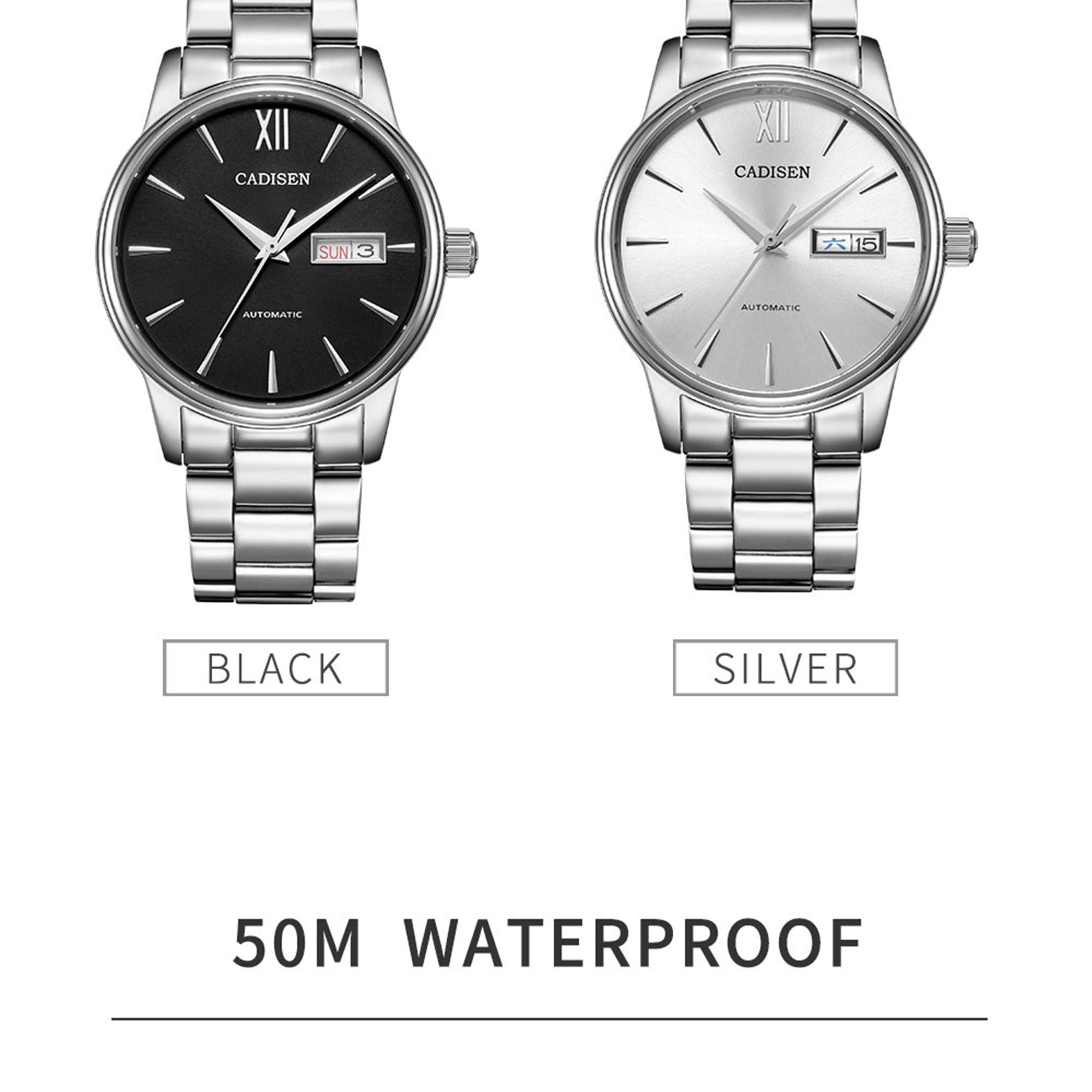 Hf4ee66666a7145d6bb2b8a2c6401f9cf4 CADISEN Men Watch Automatic Mechanical Watches Role Date Week Top Luxury Brand Japan NH36A Wrist watch Clock Relogio Masculino
