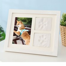 Pet Dog Cat Paw Print Memorial Album Photo Frame Practical Household Pet Memorial Picture Frame Kit(China)