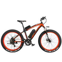 "1000W Pedal Assist Electrical Bicycle Men's E-bike 26"" Fat Snow Bike 48V 10Ah Lithium-Ion Battery, Hydraulic Disc Brake"