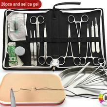 Outils chirurgicaux de suture, ensemble de 7, 12, 15 ou 20 pièces, kit doutils de formation en fonctionnement pour médecins, sciences, étudiants