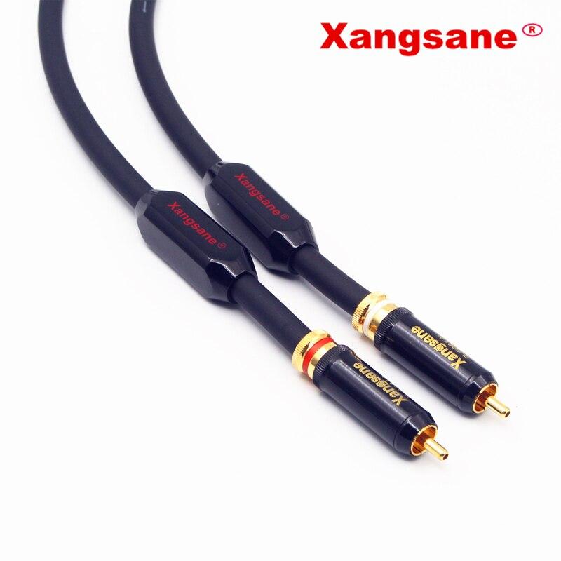 Xangsane sp-5008cu haute performance OCC conducteur HIFI câble audio 2RCA mâle à mâle câble audio