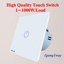 WELAIK Manufacture-EU 1gang1way Wall-Touch-Switch Crystal-Glass Panel-Switch Wall-Intelligent-Switch Light-Smart-Switch A1911CW cheap CN(Origin) TOUCH ON TOUCH OFF RoHS Switches 1Year 1Gang 1Way Touch On Off Switch Touch switch 1Gang1Way AC250V 1~1000W Gang