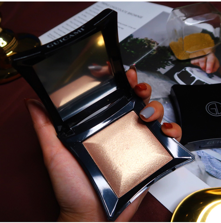 Duochrome cristal highlighter pó paleta bronzer destaque