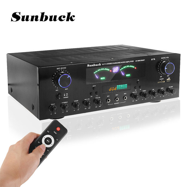 Усилитель мощности SUNBUCK AV-999BT, 7-канальный, Bluetooth, FM, USB, SD 1