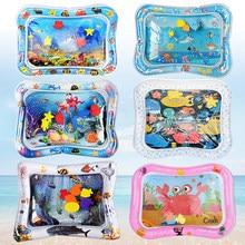 Baby Wasser Matte Aufblasbare Kissen Infant Kleinkind Wasser Spielen Matte für Kinder Frühe Bildung Entwicklung Baby Spielzeug Sommer Spielzeug