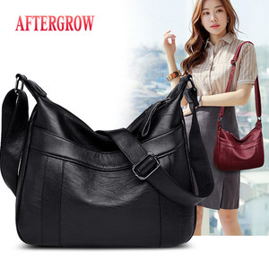 2019 Simple Style Soft Leather Handbag Women Bags Designer Ladies Hand bags Female Crossbody Messenger Bag Mother bolsa feminina