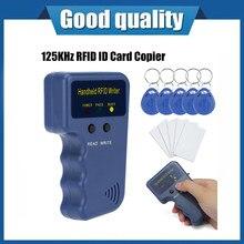 Handheld 125khz t5577 cet5200 em4305 en4305 rfid duplicador copiadora programador leitor escritor id tags regravável cartão cloner chave