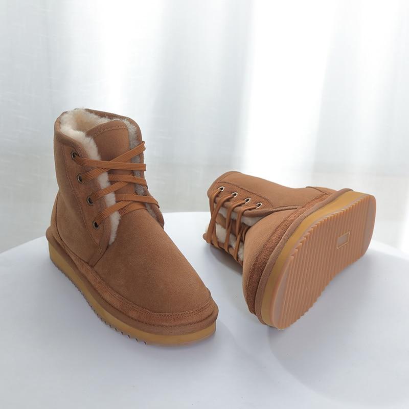 nature wool women Australia classic snow boos 100% genuiner leather short sheepskin winter waterproof shoes high quality big 43