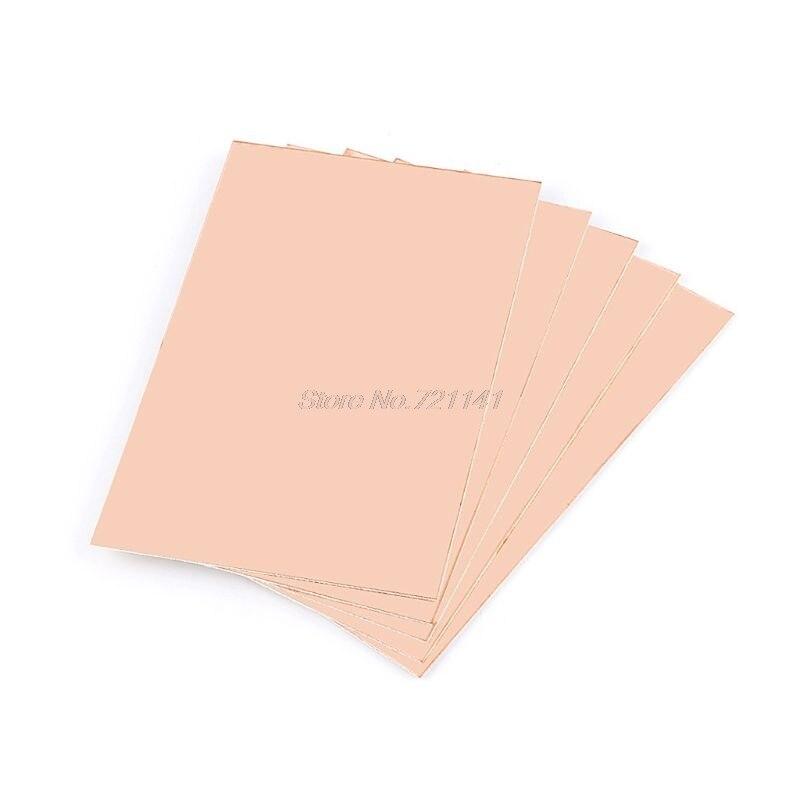 5 pces 10*15cm ccl único lado pcb placa laminada folheada de cobre fr4 placa de circuito composto epóxi material dropship