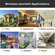 LED Indication Household Wireless Doorbell 2 Receiver 100M Range Remote Control Door Bell Transmitter(China)
