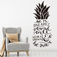 Art Design Home Decoration Pineapple text Wall Sticker Removable House wall Decor Creative Beautiful Decals LW448 creative home decoration girl s eyes design removable wall art sticker