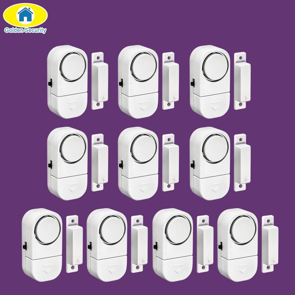 Golden Security 10 pièces 90dB sans fil maison fenêtre porte cambrioleur système d'alarme de sécurité capteur magnétique pour système de sécurité à la maison