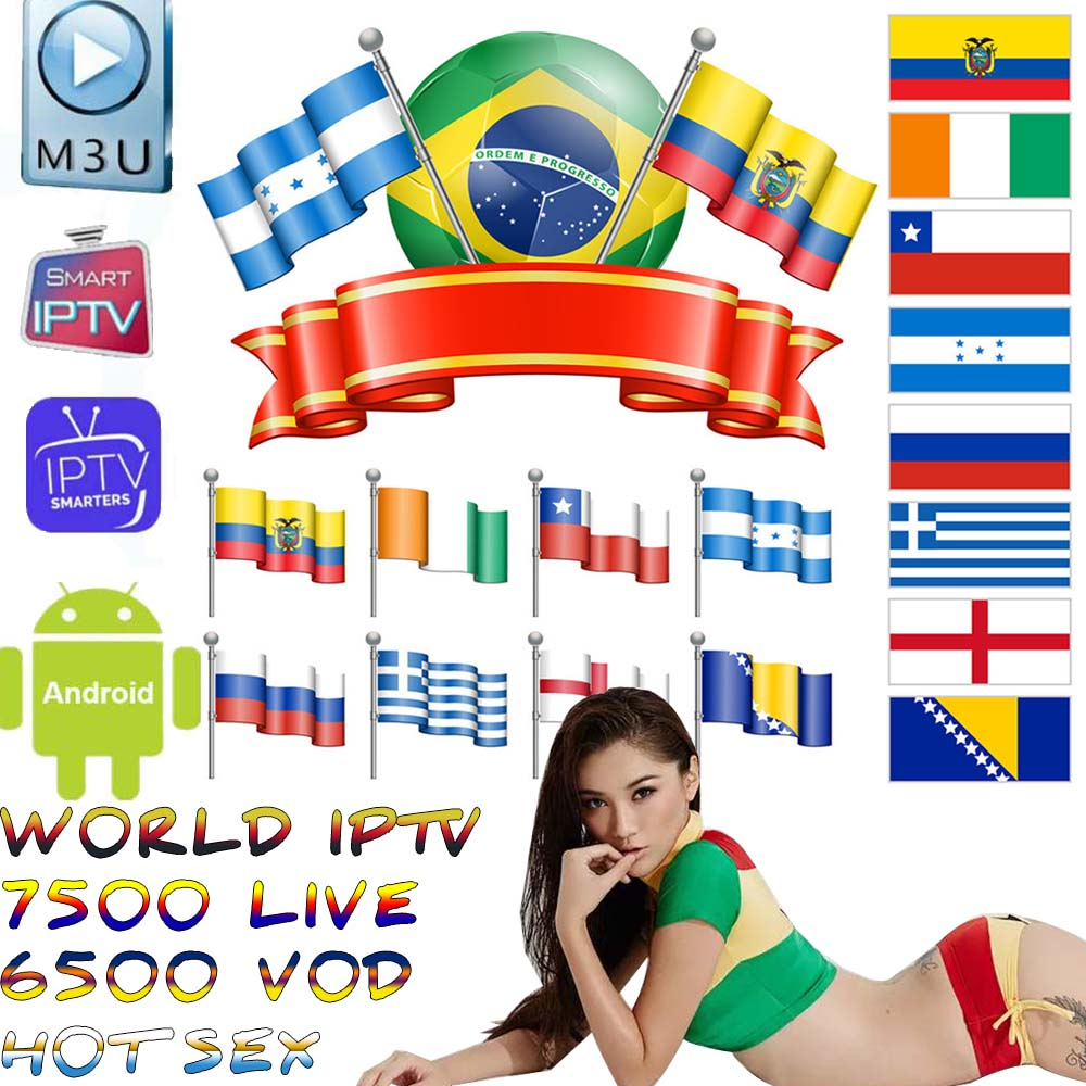 World IPTV 7500 + Live Free Sports Adult Xxx For Tv Box Ssmart Android Tv Box Ssmart Tv Pc M3u Local Live Tv Movistar