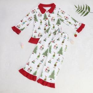 Image 4 - תינוק חג המולד פיג מה דפוס חולצות ילדים סטי בנות שמלות מכנסיים הלבשה עליונה & מעילי משפחת התאמת שינה בגדים
