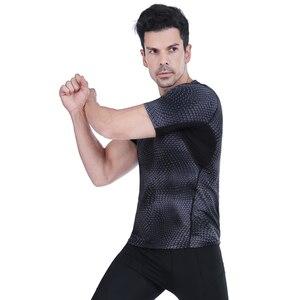 Image 5 - Acefancy nefes spor üstleri erkekler için T gömlek için elastik spor salonu absorbe ter T gömlek spor giysileri erkek 71601 spor erkekler