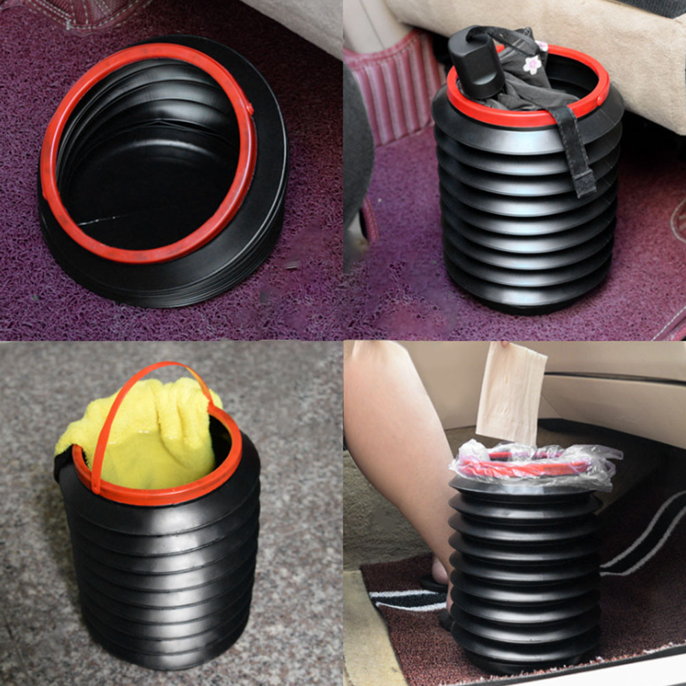 Portable Outdoor Camping Hiking Car Wash Fishing Folding Bucket Barrel Water Container hiking Numerous Outdoor Activities in Stowing Tidying from Automobiles Motorcycles