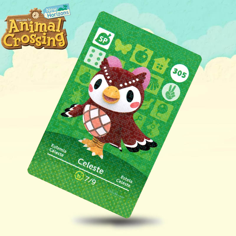 305 Celeste Animal Crossing Card Amiibo Cards Work For Switch NS 3DS Games