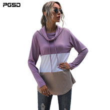 Pgsd 2020 осенне зимние женские повседневные топы фиолетового