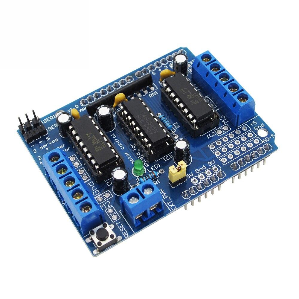 L293D моторный привод щит двойной для arduino Duemilanove, плата расширения привода двигателя Щит управления двигателем