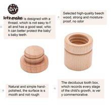 Let's make 1 шт деревянная детская коробка для зубов мальчиков