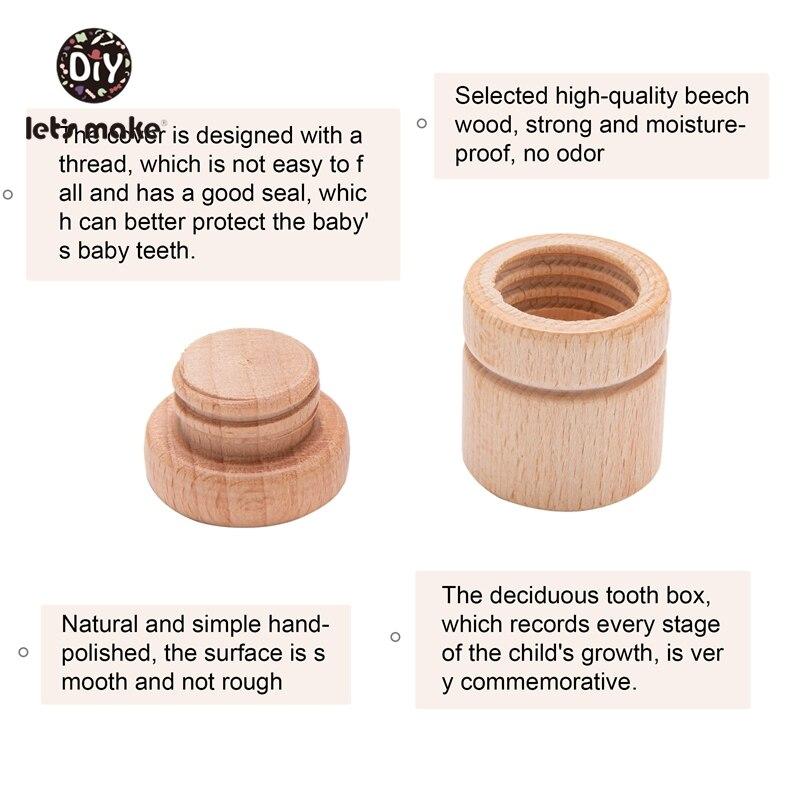 Lassen sie Machen 1PC Holz Baby Zahn Box Jungen Mädchen Baby Souvenirs Geschenk Andenken Sparen Buche Organizer