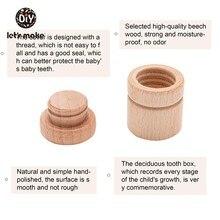 Let's Make – boîte à dents en bois pour bébé, 1 pièce, souvenir souvenir, cadeau, organisateur en hêtre