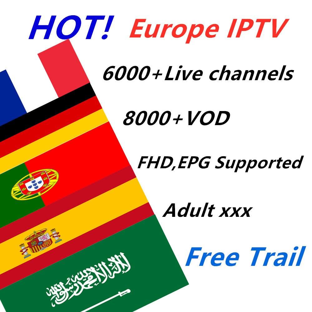 IPTV France 6000 Live IPTV subscription Europe Portugal Spain Nordic Germany IPTV M3U smart tv box android tv box x96 MINI