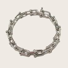 Hohe Qualität U Form Armreif Rose Gold Farbe Bijoux Armbänder Für Frauen Und Männer Mode Schmuck DJ1400