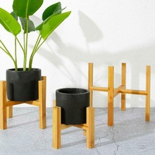Flower-Pot Stand Wooden Bamboo-Sales Floor H6X0 Direct-Tray Succulent Four-Legged Factory