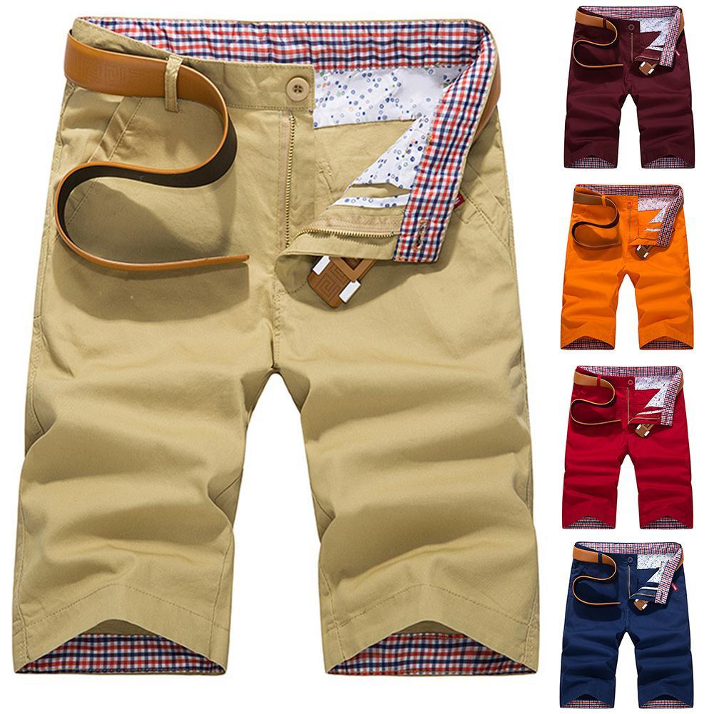Plus Size Cargo Shorts Men Summer Cotton Shorts Casual  Sport  Mens Shorts Solid Color Mens Cargo Shorts Men's Bottoming Shorts
