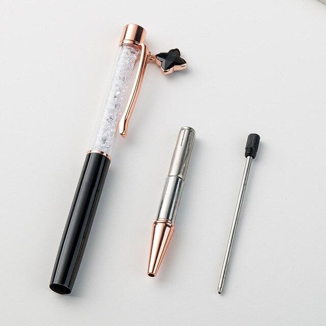 1pcs Kawaii Ball Pens Metal Ballpen Four-leaf clover Ballpoint Pens Student Pens For School Stationery Office Supplies 1.0mm 3